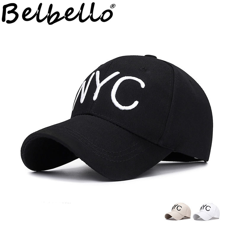 Belbello New style Summer Embroidery <font><b>NYC</b></font> Simple Fashion baseball cap Ladies' leisure recreational sunshade caps Cotton man's hat image