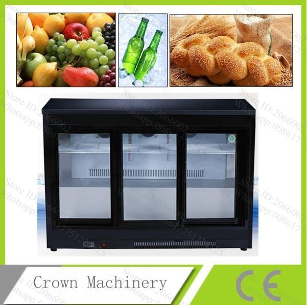 30l Capacity 3 Moving Sliding Glass Door Freezer Big Air Cooling