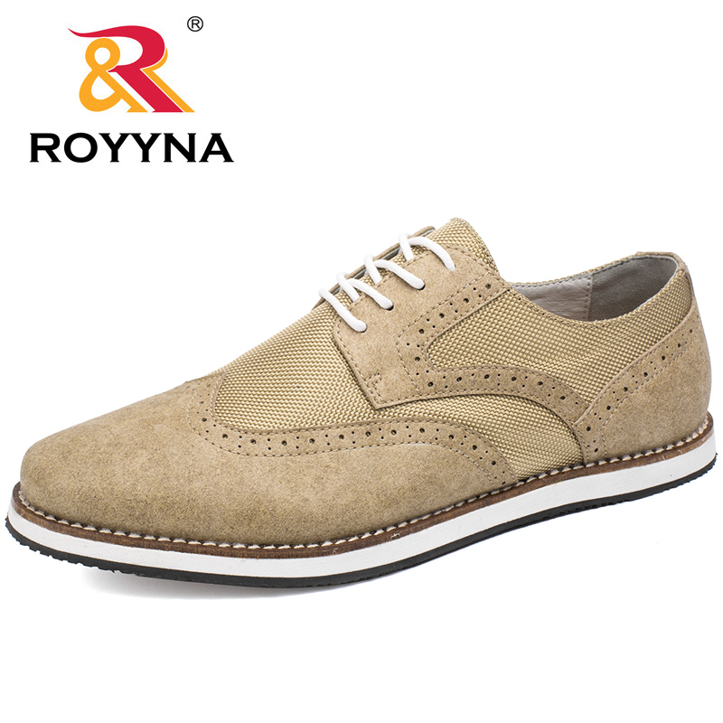 ROYYNA New Classics Style Men Casual Shoes Lace Up Men Shoes Hand Made Men Flats Comfortable Oxfords Shoes Fast Free Shipping serene men oxfords shoes british style lace up shoes waterproof low ankle boots leisure men flat shoes comfortable flats 6215