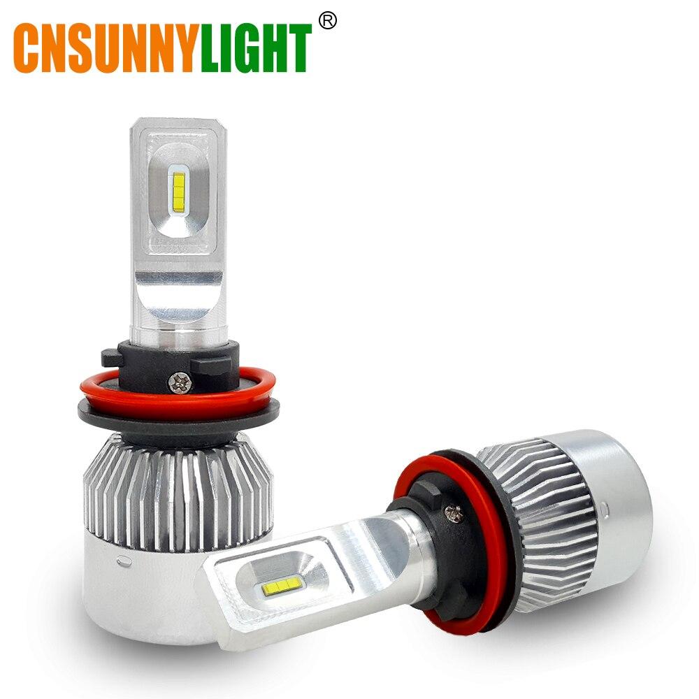 CNSUNNYLIGHT H7 H11 LED H1 H3 9005 HB3 9006 HB4 9012 HIR2 CSP Car Headlight Bulbs Mini Size 9000LM Headlamp 12V Auto Lightings h1 h4 h7 h8 h9 h11 9005 9006 hb3 hb4 9012 hir2 car led headlight bulbs to replace automobile halogen headlamp fog conversion kit