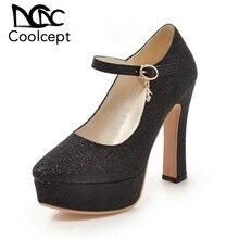 Coolcept Panas Baru Sepatu Hak Tinggi Wanita Sepatu Pompa Pesta Pernikahan Sepatu Platform Fashion Wanita Sepatu Hak Tinggi 12 Cm Ukuran 32-43