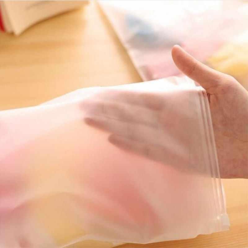 Baru Renang Tas Matte Frosted Kantong Perjalanan Kolam Tas Disegel Tahan Air Transparan Ziplock Tas untuk Pakaian Bra Sepatu