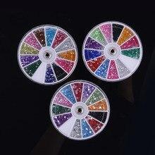 1set DIY Nail Art Tools Decorations Adornment Rhinestone Nail Sticker Decoration Wheel Mixed Nail Art Manicure Accessories