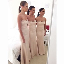 Brides Maid Dresses 2015 vestido madrinha curto Lace Bridesmaid Dresses For Wedding Guests Party Long Women Mermaid Formal Gown