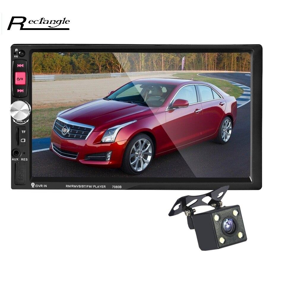 imágenes para Bluetooth 7 ''2 DIN Car Audio Radio FM Estéreo función de Control Remoto en el volante de Coches Reproductor MP5 con Retrovisor cámara