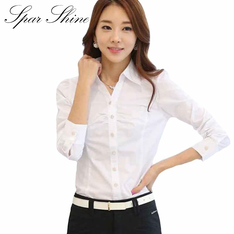 Popular White Work Blouses-Buy Cheap White Work Blouses lots from ...