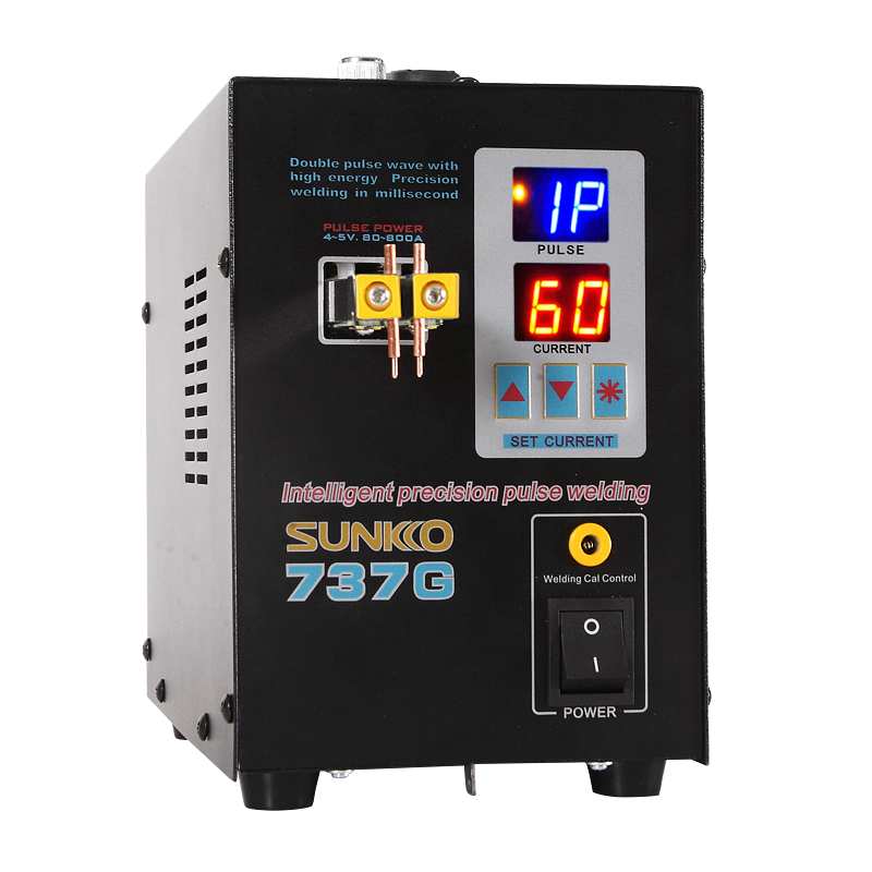 SUNKKO 737G battery spot welder 1 5kw precision pulse spot welder led light welding machine used