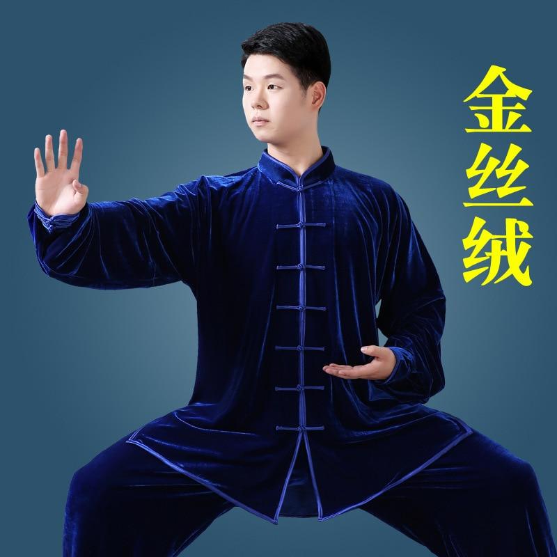 Women Red Color Mandarin Collar Martial Arts Tai Chi Suits Long Sleeve Tang Suit Taiji Clothes Kung Fu Uniform Wushu Shirt Pants