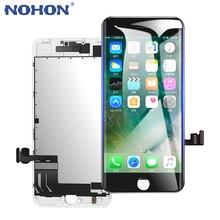 Nohon tela lcd para iphone 6, 6s, 7, com força 3d, painel + ferramentas para reparo grátis
