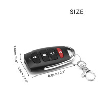 10 PCS 4 buttons RF 433MHz Remote Control Duplicator Cloning Gate for Garage Door Opener Learning Copying Transmitter Key Fob