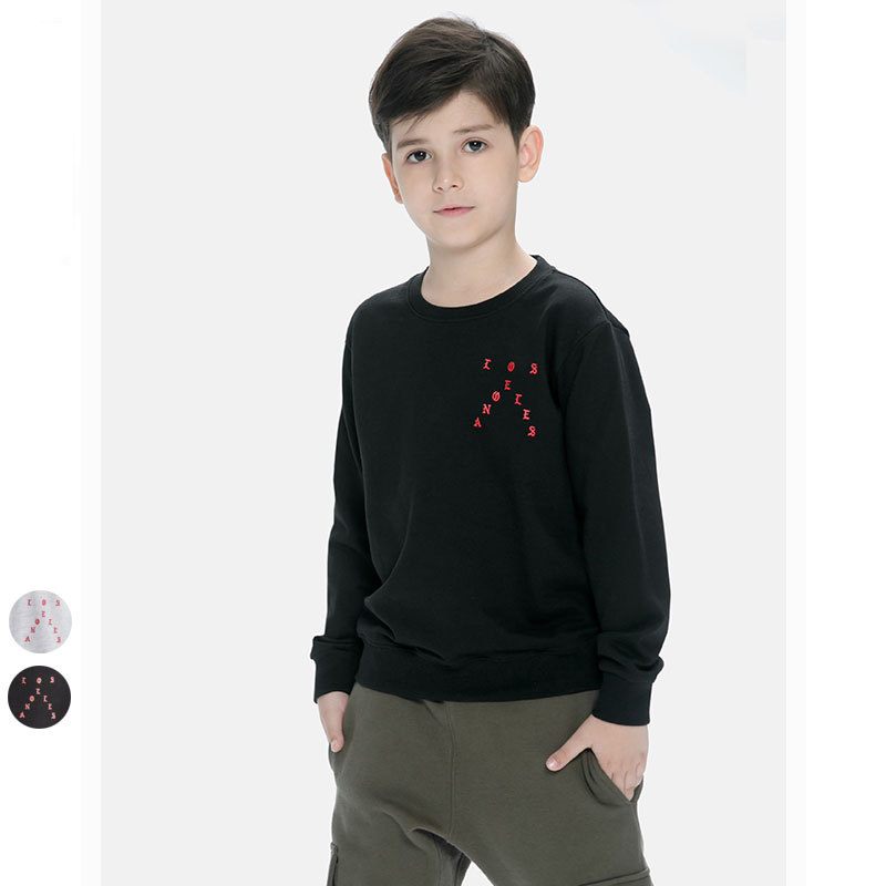 Autumn Letter Printing Cool Boy Sweatshirt Kids Long Sleeve Fashion T Shirt Children Clothes O-neck Sweater For Boys 8-14 Ages