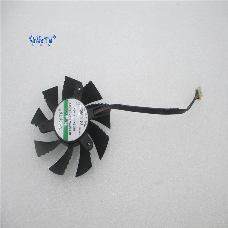 New Cpu Cooling <font><b>Fan</b></font> For Colorful GTS450 <font><b>GT630</b></font> GTX650 Brushless Laptop Cooler 75mm Radiators Cooling <font><b>Fan</b></font> Free Shipping image