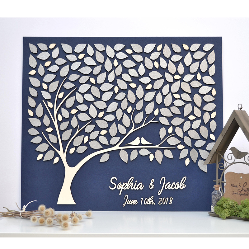 Original Wedding Guest Book Ideas: Custom 3D Wedding Guest Book Tree, Personalized Guestbooks