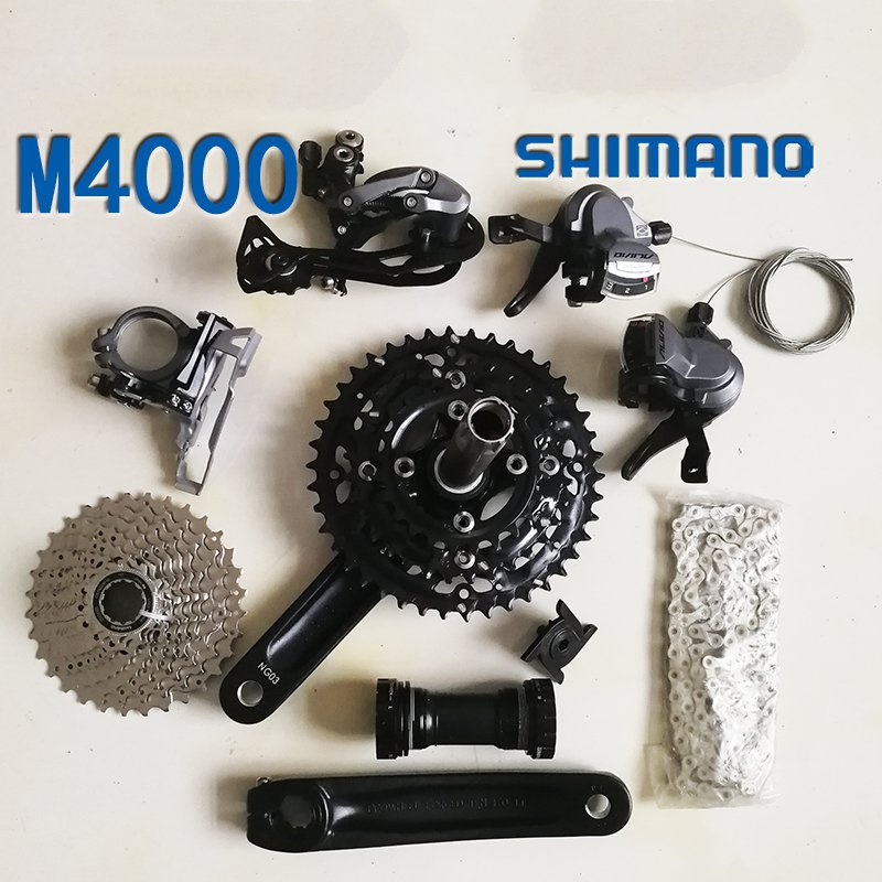Shimano m4000 Bicycle Derailleur 9S 27S Road Bike Derailleur Shifter+Front Derailleur+ Rear Derailleur Groupset bike rear derailleur r9 double 9 speed derailleur road bike groupset for shimano sram