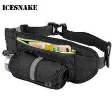 ICESNAKE Running Bag Men Women Running Belt Waist Bag Sports Water Bottle Belt Sport Jogging Gym Camping Bag Running Accessories недорого
