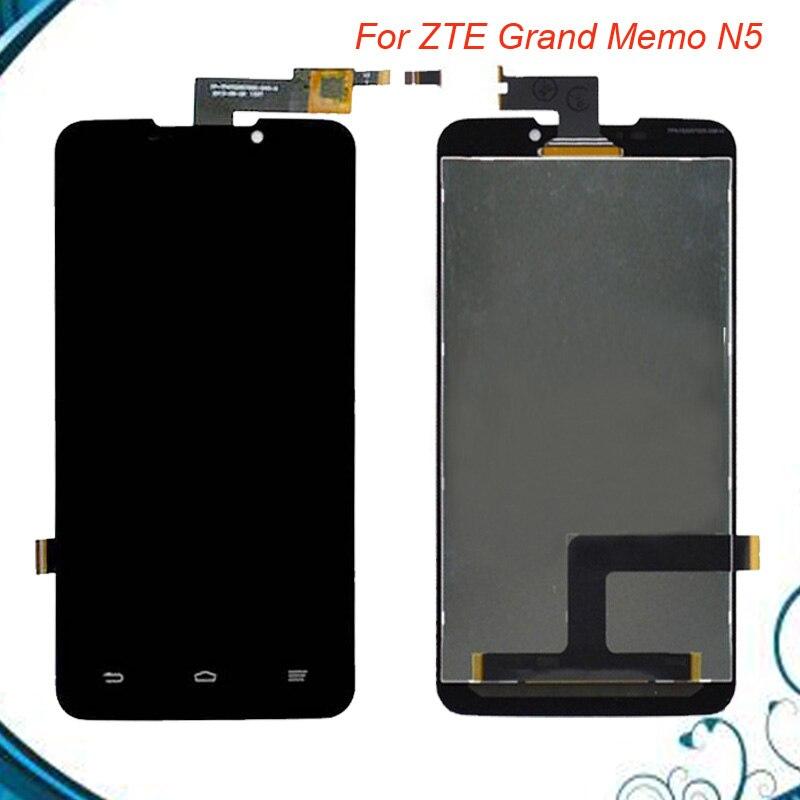 5,7 zoll Black Voll LCD DIsplay + Touchscreen Digitizer Montage ersatz Für ZTE Grand-memo N5 U5 N9520 V9815 Freies verschiffen
