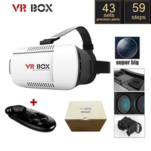 2017 3D Google Cardboard VR BOX 1.0 Version Virtual Reality 3D Glasses Headset + Smart Bluetooth Wireless Remote Control Gamepad