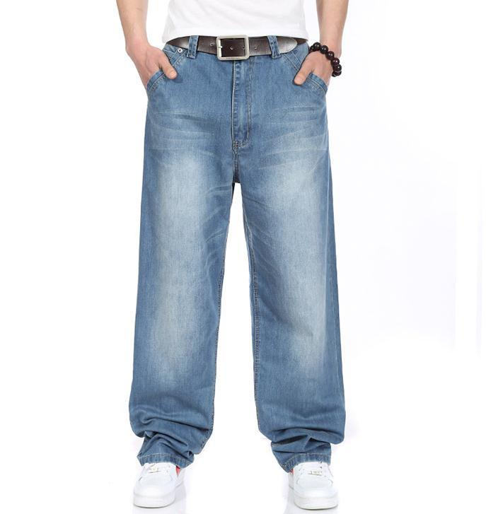 2017 New Fashion High Good Quality Brand Men Jeans Hot Sale Straight Regular brand loose jeans