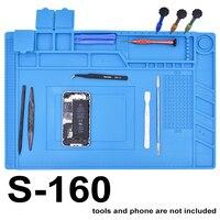 S 160 Magnetic 45CM 30CM Mobile Phone Repair Anti Static Mat Advanced DIY Tool ESD Mat