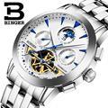 2016 Suiza de lujo watche hombres marca BINGER Relojes de Pulsera Mecánicos de zafiro completa de acero inoxidable B1188-8