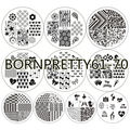 10Pcs New Pattern BORN PRETTY Poker Love Heart Mutil-patterns Nail Art Stamp Stamping Template Image Plates BP#61-70