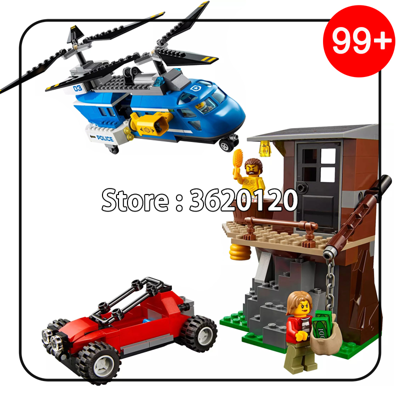 02089 339pcs Police Mountain Arrest Capture Set Model Building Blocks Bricks Toy for Children Compatible Legoe City 60173 Lepine 10494 city supermarket building bricks blocks set girl toy compatible lepine friends 41118