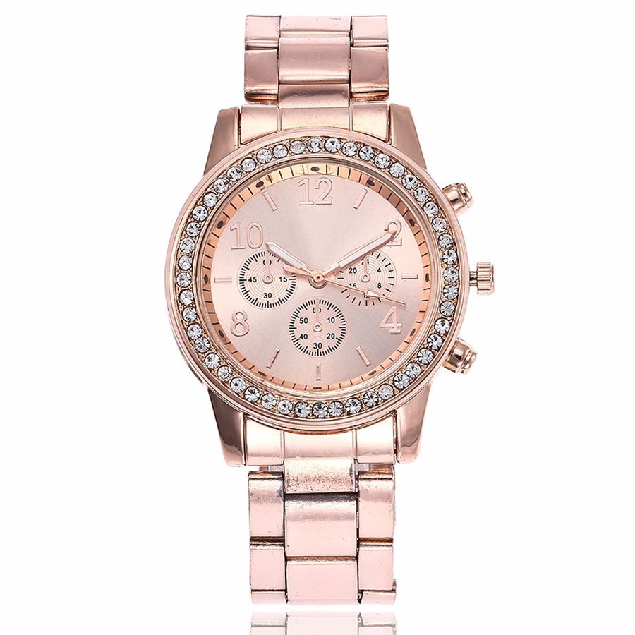Fashion Women Rose Gold Stainless Steel Watch Casual Ladies Silver Wristwatches Female Rhinstone Watch Relogio Feminino dropshipping fashion stainless steel rose gold
