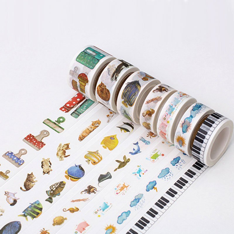 1 x twilight good days 3cm X 8m kawaii washi tape children like DIY Diary decoration masking tape stationery scrapbooking tools in Office Adhesive Tape from Office School Supplies