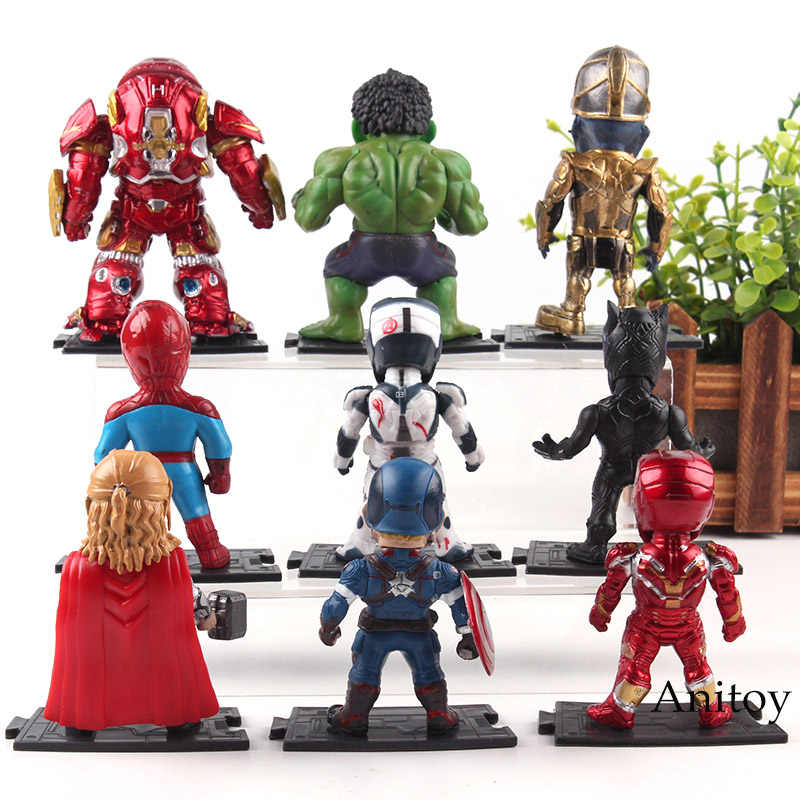 Vingadores Marvel Thanos Infinito Guerra Hulkbuster Spiderman Thor Capitão América Homem De Ferro Action Figure Boneca de Brinquedo Pantera