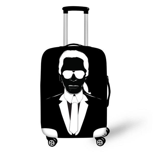 THIKIN Fashion Karl Lagerfelds Printed Travel Suitcase Cover Waterproof Luggage Protector Cover For 18-30 Inch Trolley Case