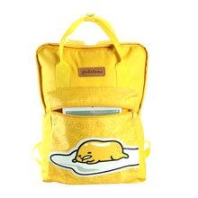 1f680fb301fb Gudetama Backpack Cute Students bookbag yellow eggs rucksack top-handle  children teenager schoolbag(China