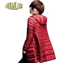 Легкий теплый теплая куртка Новинка 2017 года; стильное платье женские хлопковое пальто большой размер Тонкий Повседневная куртка с капюшоном Хлопок Abrigo женский G2845