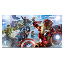 Мститель плакат герои шелковые принты супергерой Железный человек Капитан Америка Халк черная Widow Hawkeye Wall Art картина украшение дома