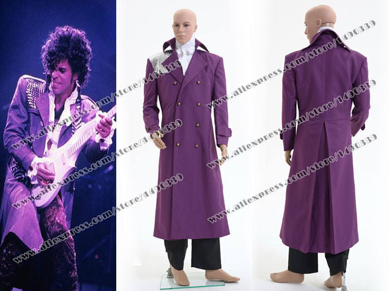 Purple Rain Prince Rogers Nelson Cosplay Costume Purple Trench ...