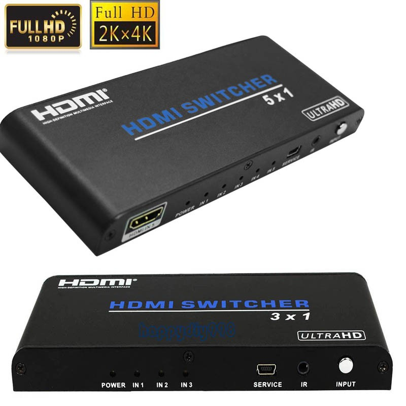 UHD 3X1 5x1 HDMI Switch HDMI 2.0 Port HDMI Switcher Audio video Converter 4KX2K 3D 1080p with IR remote support HDCP2.2 for HDTV goolrc 5 8g 3 channel video switcher module 3 way video switch unit for fpv camera