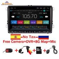 9 Android 8.1 Car DVD GPS Navigation for VW Volkswagen SKODA GOLF 5 Golf 6 POLO PASSAT B5 B6 JETTA TIGUAN dvd player BT RDS