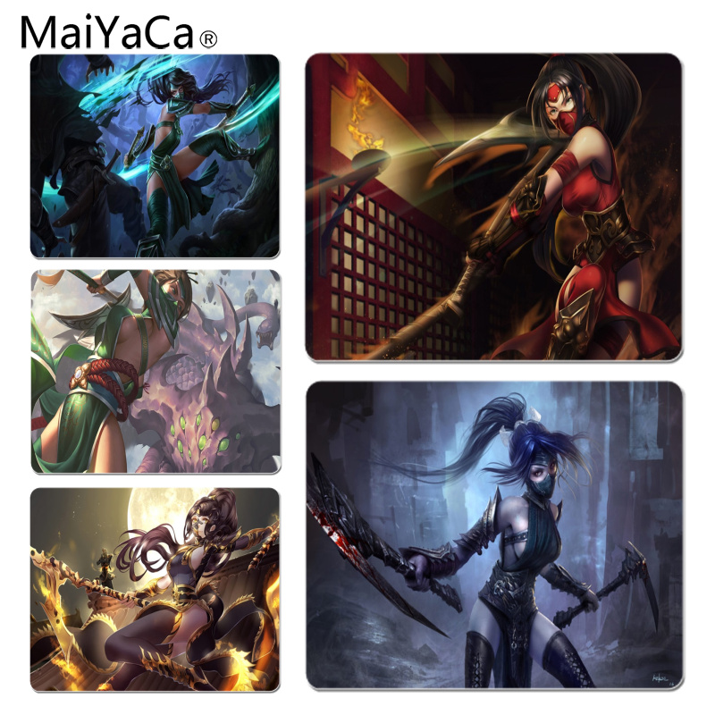 MaiYaCa Hot Sales Akali High Speed New Mousepad Size for 18x22cm 25x29cm Rubber Mousemats