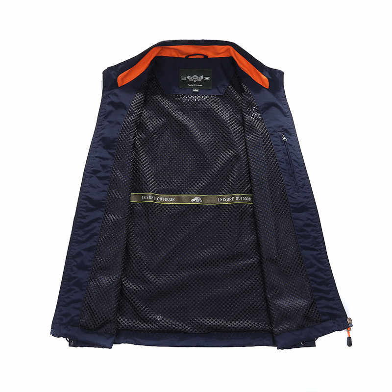 Наружный повседневный мужской жилет с несколькими карманами, куртки на молнии, без рукавов, Мужская фотография, рыболовные военные мужские туристические жилеты