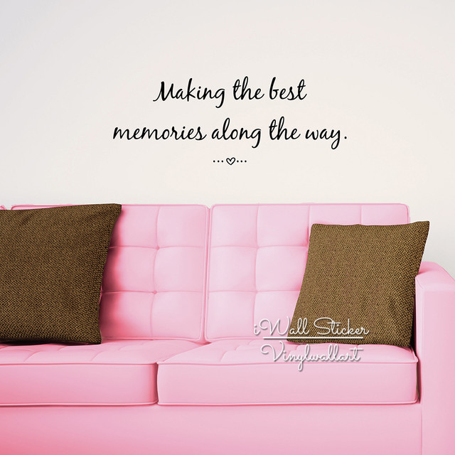 Making The Best Memories Quote Wall Sticker Inspirational Quote Wall Decal Love  Quotes Easy Wall Art Cut Vinyl Stickers Q145