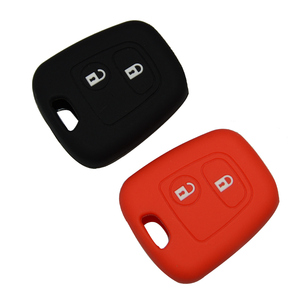 Image 5 - OkeyTech Silicone voiture clé porte couvercle pour Peugeot 206 307 207 408 pour Citroen C2 C3 C4 caoutchouc souple 2 bouton coque de boîtier porte clé