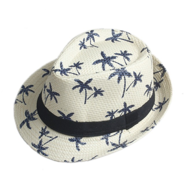 baa443f1e2863 10 Color Children Summer straw Sun hat kids Boho Beach Sunhat Fedora hat  Trilby panama Hat handwork for boy girl Gangster Cap