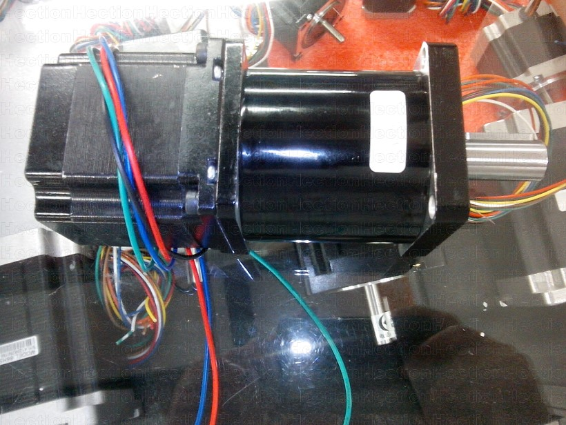 A NEMA 23 stepper motor 57HS09 install with A planetary speed reducer Ratio 1:20 makeup a gearbox or gearmotor can output 18NM a stepper motor nema 17 out 0 3nm install with a worm reducer make up a stepper motor deceleration gearbox