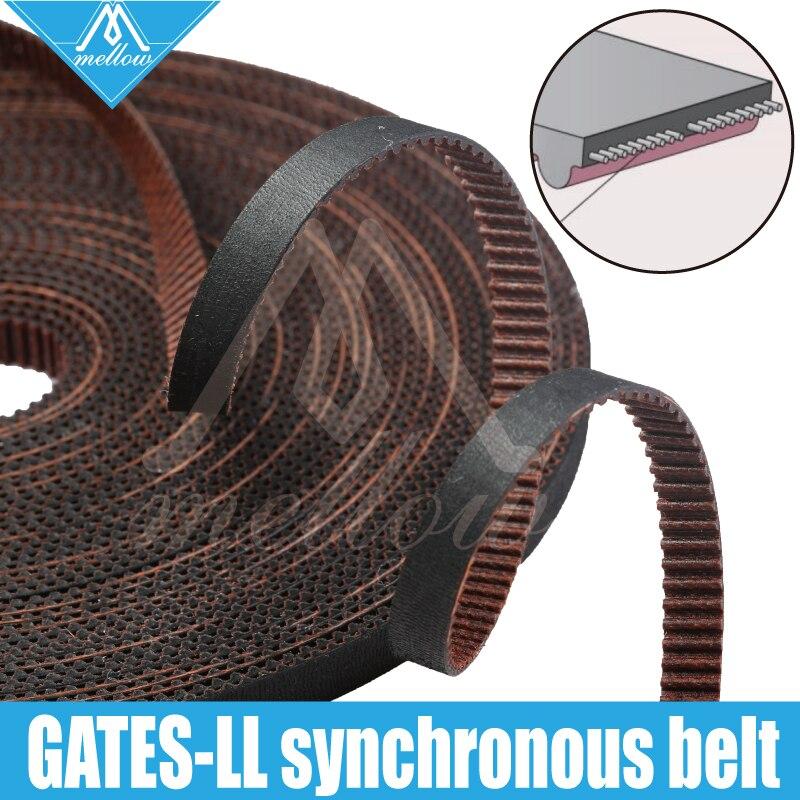 High quality 3D printer GATES-LL-2GT gear synchronous belt GT2 Width 6MM 9MM 10MM timing belt , wear resistant for Kossel RepRap