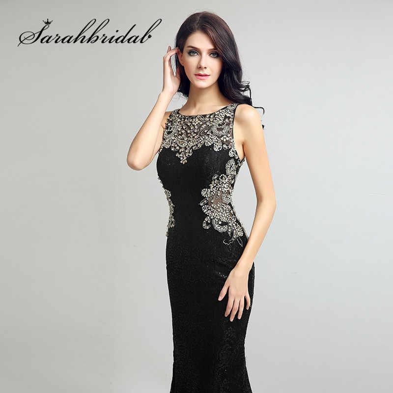 f00697cee7c ... Пикантные черные сапоги кружевные вечерние платья Длинные Русалка  бисером