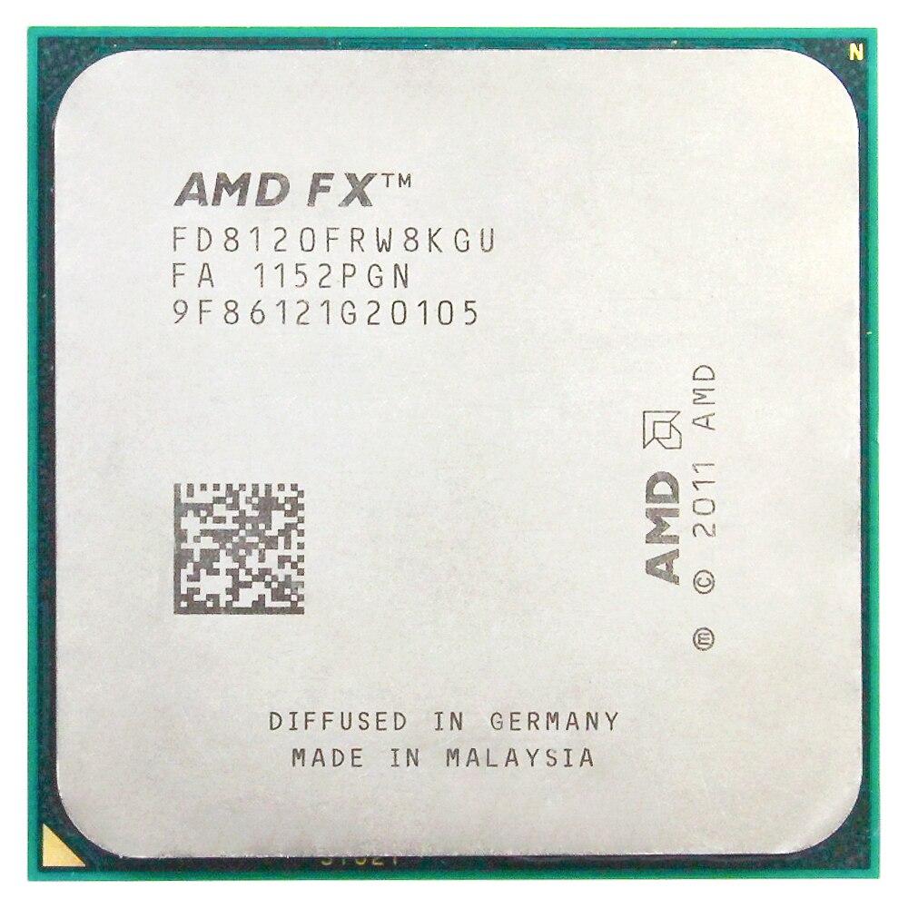 8120 FX של AMD AM3 + 3.1 GHz/8 MB/125 W מעבד שמונה מעבד