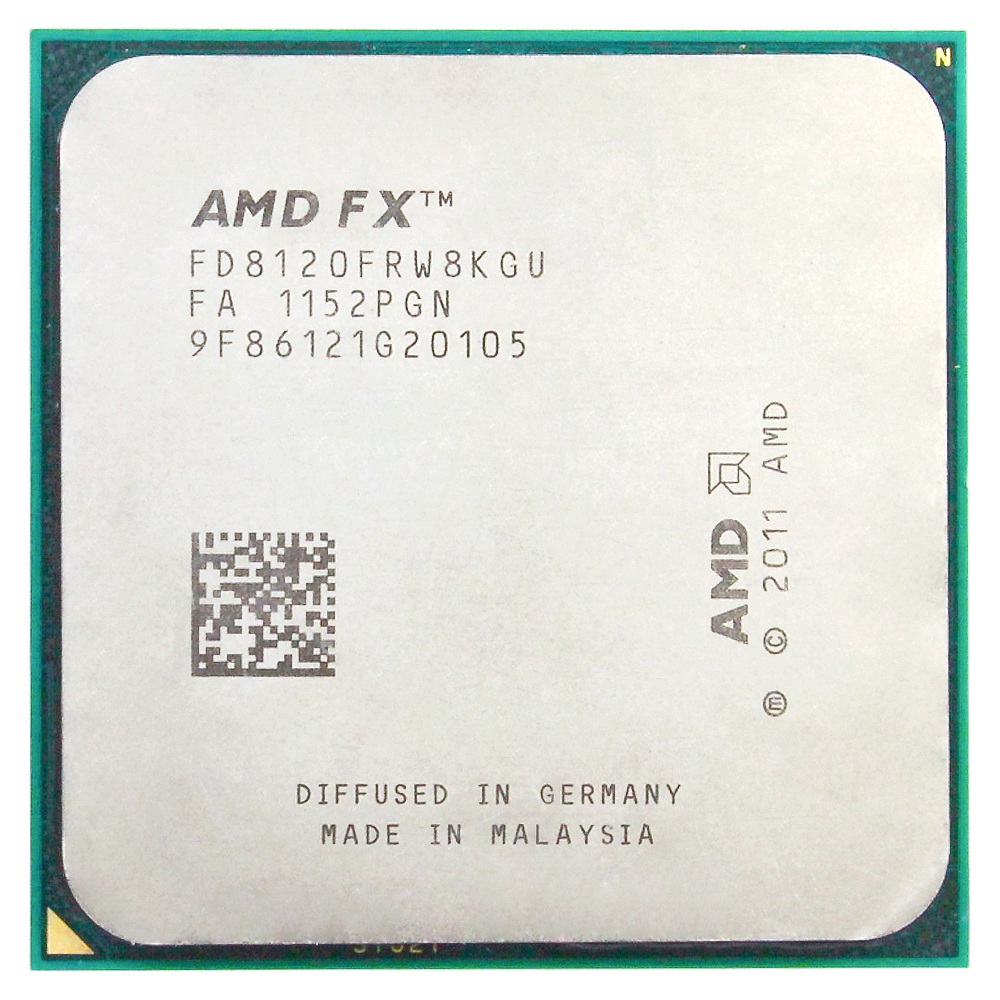 AMD FX 8120 AM3 + 3.1 GHz/8 MB/125 W Acht Core CPU processor