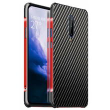 360 Armor Aluminum Bumper Phone Case For Oneplus 7 Pro Cases Metal Frame Carbon Fiber PC Cover For Oneplus 7 Case Shockproof