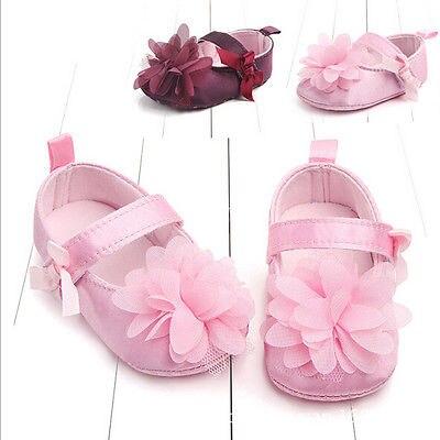 Cute Toddler Baby Girls Newborn Princess Flower First Walkers Kids Soft Sole Shoes Laces Infantil Anti-Slip Mocassins Prewalker