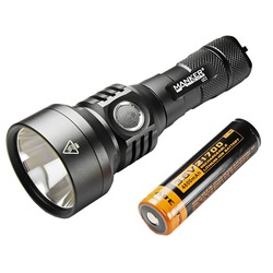 Manker U22 1500 Lumen CREE XHP35 HI LED Flashlight Fast charging USB Type-C Pocket Torch + 4800mAh 21700 Rechargeable Battery
