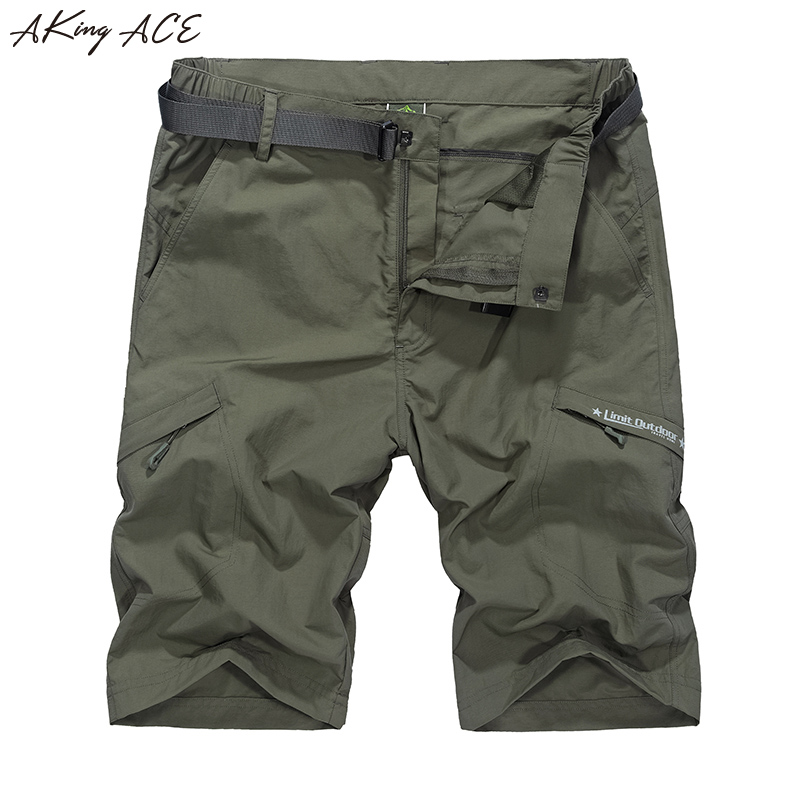 2017 AKing ACE Waterproof cargo military shorts Large size M-5XL thin material for summer short pants short masculino ,ZA207
